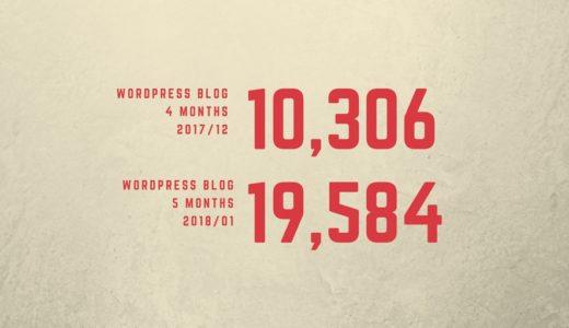 WordPressブログ運営4~5か月目PV報告!放置したブログのアクセス数は…?